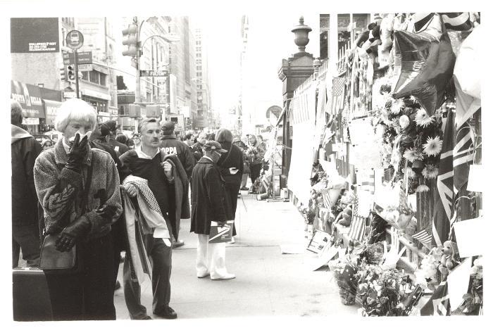 Mourners at 9/11 Memorial