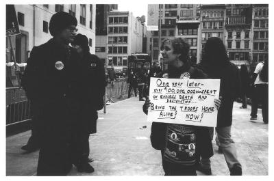 Anti-George W. Bush demonstration