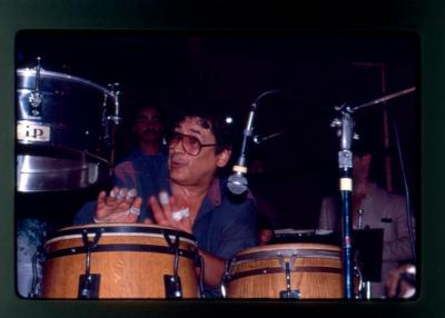 Ray Barretto on the congas