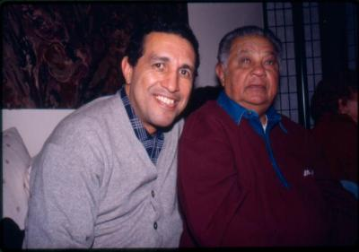 Carlos Ortiz and his father Gonzalo