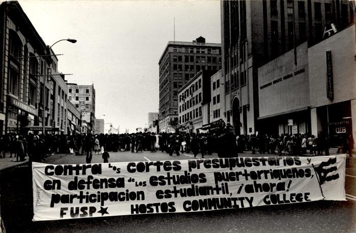 Protest at Hostos Community College