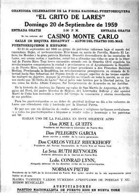 """Grandiosa celebracion de la fecha nacional puertorriqueña, """"El Grito de Lares"""""""