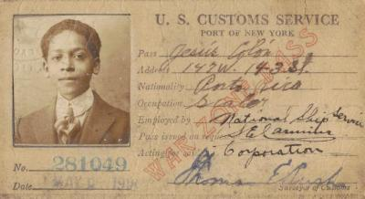 U.S. Customs ID from Jesús Colón