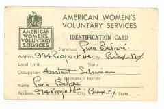 American Women's Voluntary Services ID