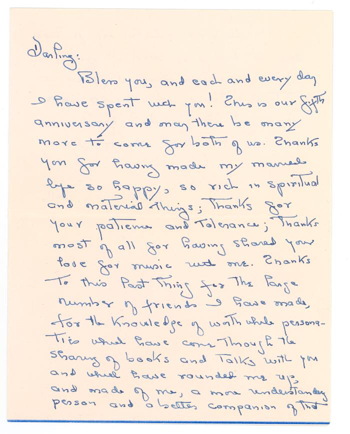 Letter to Clarence White