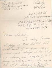 Letter to Pura B. White