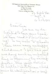 Letter from Marguerite Cartwright