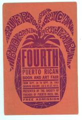 Puerto Rican Art and Book Fair poster