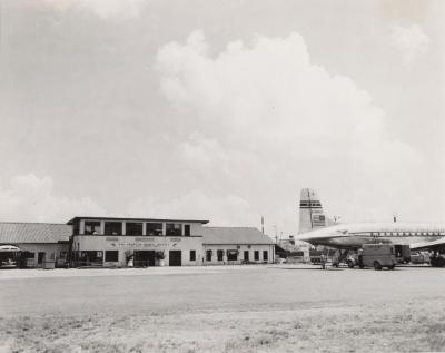 The Administration Building at the Isla Grande Airport in San Juan