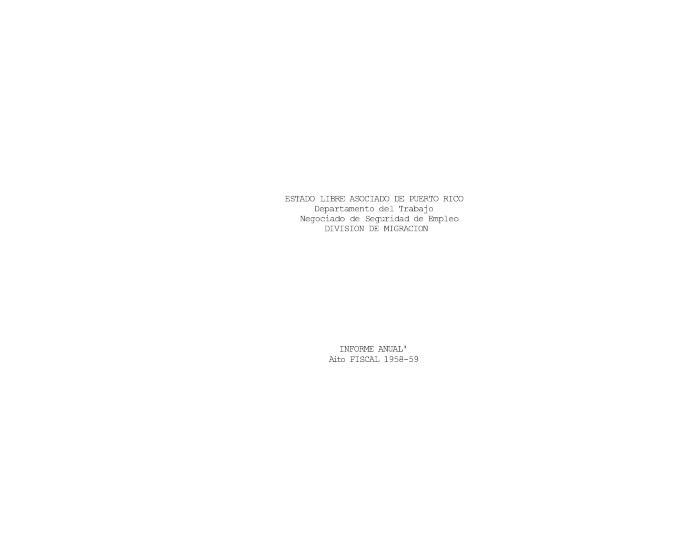 Annual Report 1958-59