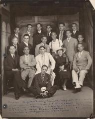 Oscar García Rivera, assemblyman, and friends