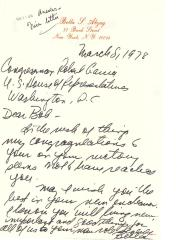 Correspondence to Robert Garcia from Bella Abzug
