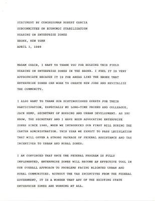 Opening Statement by Congressman Robert Garcia