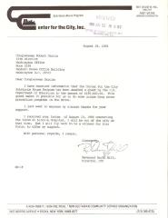 Correspondence to Robert Garcia from the Center for the City Substance Abuse Program