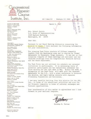 Correspondence to Robert Garcia from Congressional Hispanic Caucus