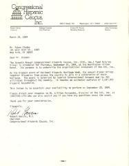 Correspondence to Rubén Blades from Robert Garcia