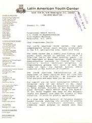 Correspondence to Robert Garcia from The Latin American Youth Center