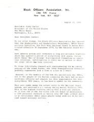 Correspondence to President Jimmy Carter from the Black Officers Association