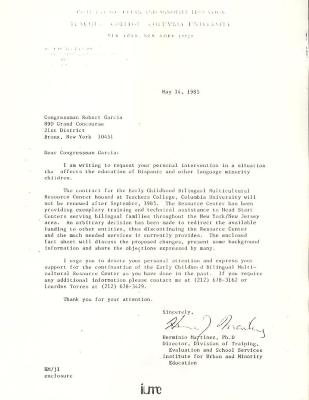 Correspondence to Robert Garcia from Herminio Martinez