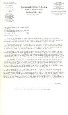 Correspondence to Patricia Roberts Harris from Robert Garcia