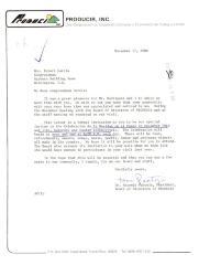 Correspondence to Robert Garcia from Antonia Pantoja