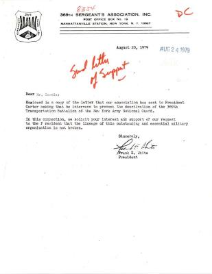 Correspondence to President Jimmy Carter from Frank E. White