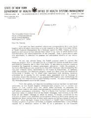 Correspondence to Robert Garcia from Richard A. Berman