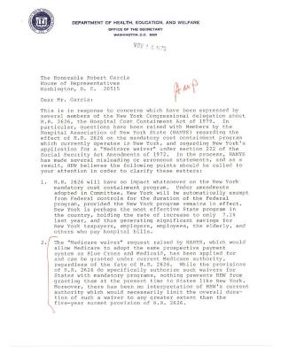 Correspondence To Robert Garcia from Larry S. Gage