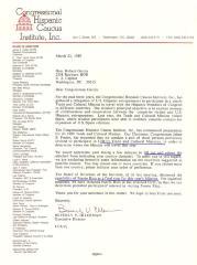 Correspondence to Robert Garcia from the Congressional Hispanic Caucus
