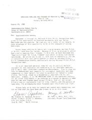 Correspondence to Robert Garcia from the National League of Families of American Prisoners and Missing in Southeast Asia