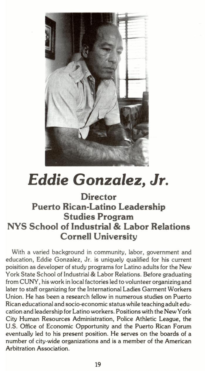Eddie González career biography