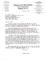 Correspondence to John F. Dunn from Robert Garcia