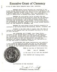 Executive Grant of Clemency to Rafael Cancel Miranda