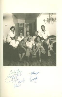 Eddie González with friends and family