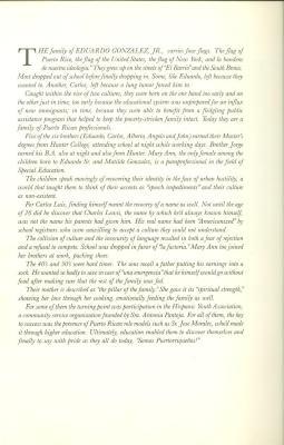 Biography of Eduardo González' family