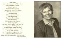 Prayer memorial card for Helen Rodríguez-Trías