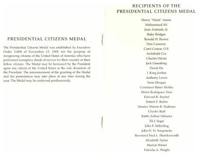 Recipients of the Presidential Citizens Medal