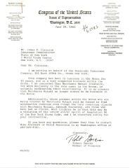Correspondence to James Corcoran from Robert Garcia