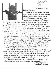 Correspondence to Robert Garcia from Gabriel Torres