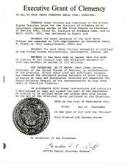 Executive Grant of Clemency for Oscar Collazo