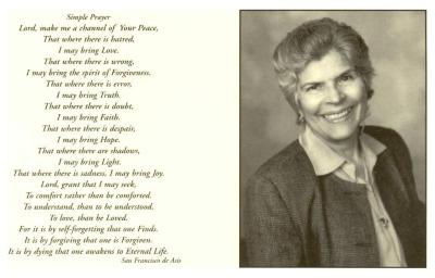 Prayer memorial card for Helen Rodríguez-Trías