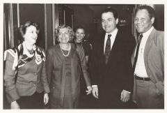 Lila Mayoral de Hernandez Colón, Olga Méndez, Nydia Velázquez, Jose Chegui and Rafael Hernández Colón