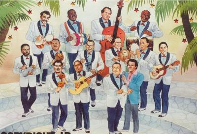 Artwork of Latin musicians