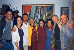 Helen Rodríguez-Trías and Eddie González with family and friends