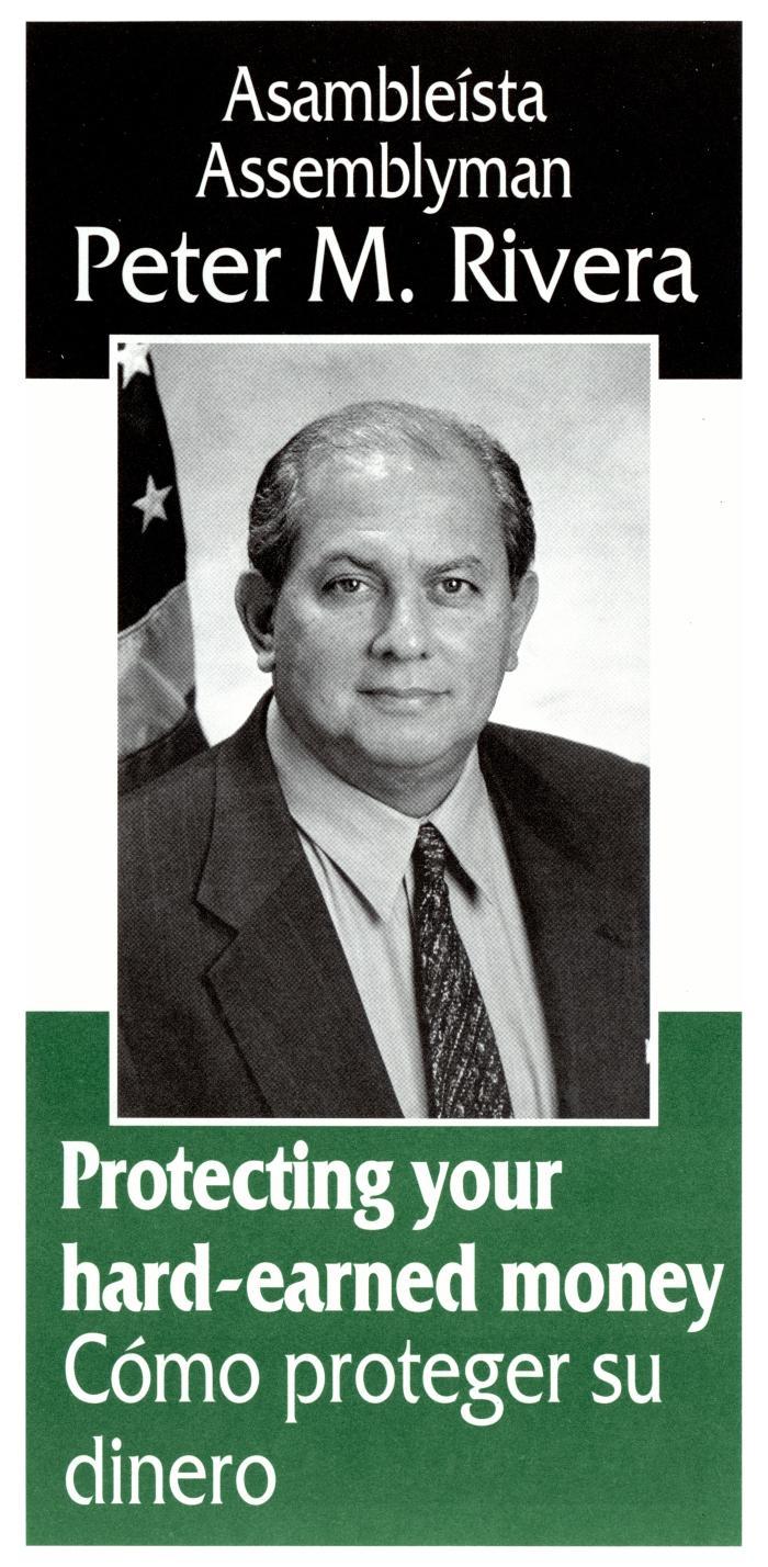 Assemblyman Peter M. Rivera election campaign