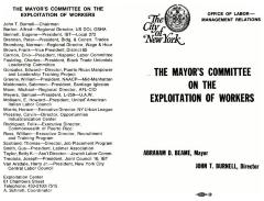 The Mayor's Committee on the Exploitation of Workers