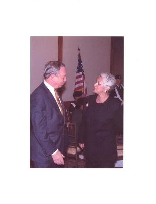 Linda A. Rios with New York City Mayor Michael Bloomberg
