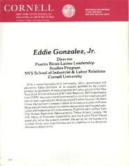 Cornell University biography of Professor Eddie González