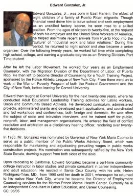 Edward González biography