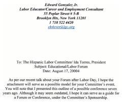 Memo to the Hispanic Labor Committee